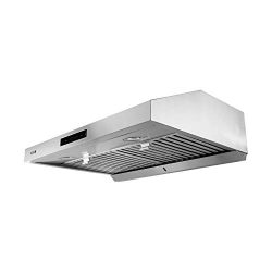 "VESTA 860CFM 30"" Stainless Steel Under Cabinet Range Hood 6 Speeds With Touch Screen Hard Wire"