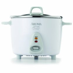 Aroma Housewares Simply Stainless 14-Cup (Cooked)  (7-Cup UNCOOKED) Rice Cooker, Stainless Steel ...