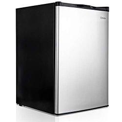 COSTWAY Compact Single Door Upright Freezer – Mini Size with Stainless Steel Door –  ...