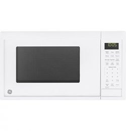 GE 0.9 Cu. ft. Capacity Countertop Microwave Oven, White