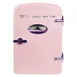 Frigidaire Retro Mini Compact Beverage Refrigerator, Great for keeping office lunch cool! (Pink, ...