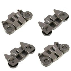 Pack of 4 W10195416 Lower Dishwasher Wheel Replacement by Tworiver, Exact Fits for Whirlpool &am ...