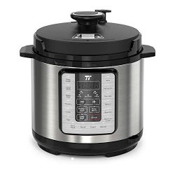TaoTronics TT-EE006 Electric Pressure Cooker 6QT, 10-in-1 Multi-Use Programmable, No Chemical Co ...