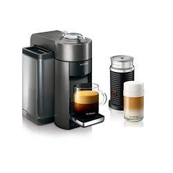 Nespresso Vertuo Evoluo Coffee and Espresso Machine with Aeroccino by De'Longhi, Graphite  ...
