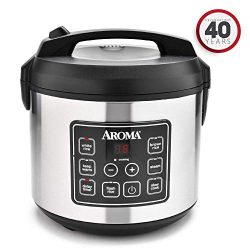 Aroma Housewares 20 Cup Cooked (10 cup uncooked) Digital Rice Cooker, Slow Cooker, Food Steamer, ...