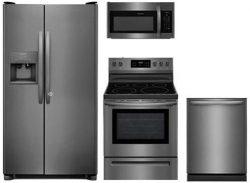 Frigidaire 4-Piece Kitchen Set FFSS2615TD with 36″ Side by Side Refrigerator, FFEF3054TD 3 ...
