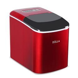 DELLA Compact Portable Ice Maker Machine 2-Size Cube Capable of Producing 26 Lbs. Of Ice Per Day ...