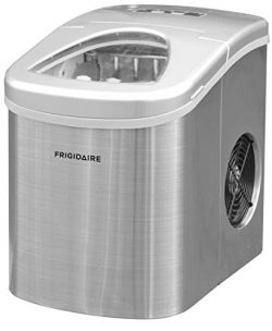 Frigidaire Counter Top Ice Maker, Produces 26 pounds Ice per Day, Stainless Steel with White See ...