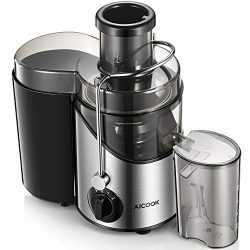 """Juicer Machine, Aicook Juice Extractor with 3"""" Wide Mouth, Non-Slip Feet, 3 Speed Centrifu ..."""