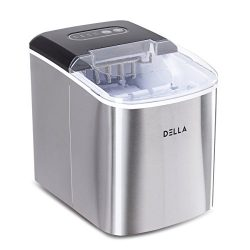 DELLA Ice Maker Machine Automatic Portable Icemaker Producing – 26lbs per Day w/ 2 Selecta ...