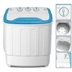 4-EVER Portable Mini Compact Washing Machine Twin Tub Washer and Dryer Combo 13lbs For Dorms Apa ...