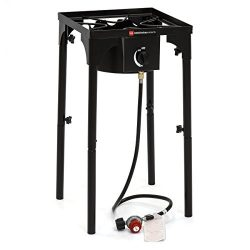 Best Choice Products 100,000 BTU Outdoor Portable Propane Gas High Pressure Single Burner Cooker ...