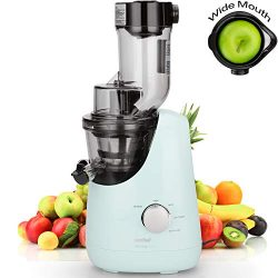 Comfee Slow Masticating Juicer, Cold Press Juice Extractor and Ice Cream Maker; Make High Nutrie ...