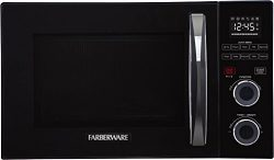 Farberware Gourmet FMO10AHSBKA 1.0 Cubic Foot 1000 Watt Microwave Oven with Healthy Air Fry and  ...