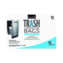 "BestAir Strength Paper and Plastic Liner Paper Trash Compactor Bags 16"" D. x 9"" W. x ..."
