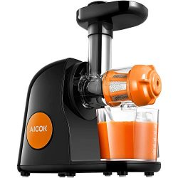 Juicer Masticating Slow Juicer, Aicok Commercial Juicer Quiet Motor & Reverse Function, Cold ...