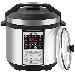 COSORI Upgraded 9-in-1 6 Qt Electrical Pressure Cooker with Instant Stainless Steel Pot, 19 Prog ...