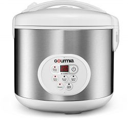 Gourmia GRC870 20 Cup (Cooked) Rice Cooker and Steamer For Grains and Hot Cereal – Steam B ...