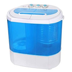 HomGarden Portable Washing Machine, Spin Dryer-Compact Twin Tub Durable 9.9lbs Mini Laundry Wash ...