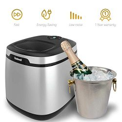 Gladwell Countertop Ice Maker Machine – Portable Nugget Ice Cube Makers Makes 50 LB Of Ice ...