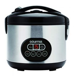 Gourmia GRC770 12 Cup (Cooked) Rice Cooker and Steamer For Grains and Hot Cereal – Steam B ...