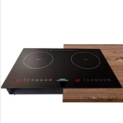 Crawford Kitchen 1800W In-Counter Double Digital Induction Cooktop | Portable Or Built-In Counte ...