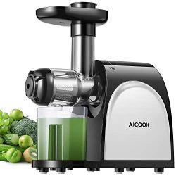 Juicer, Aicook Slow Masticating Juicer, Cold Press Juicer Machine, Higher Juicer Yield and Drier ...