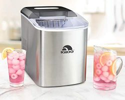 Igloo ICEB26SS 26-Pound Automatic Portable Countertop Ice Maker Machine, Stainless Steel
