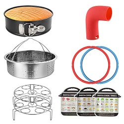8QT Instant Pot Accessories with Steamer Basket, Springform Pan, Two Egg Racks, Two 8QT Sealing  ...