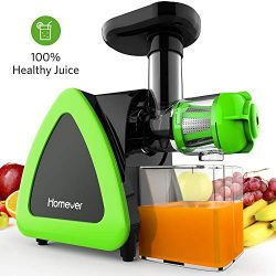 Juicer, Homever Slow Masticating Juicer Machines Extractor for Higher Nutrient and Vitamins, Eas ...