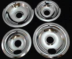 Range Top Drip Pans for Whirlpool, Sears, 2 of W10196406 & 2 of W10196405