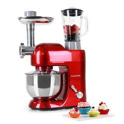 KLARSTEIN Lucia Rossa Kitchen Machine • Multi-function Stand Mixer • 650 Watts • 5.3 qt Bowl • 1 ...