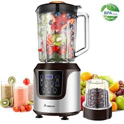 Blender, AAOBOSI Smoothie blender, Professional Blender with 52 Oz Glass Jar for Shakes and Smoo ...
