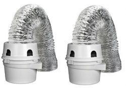 Dundas Jafine TDIDVKZW ProFlex Indoor Dryer Vent Kit with 4-Inch by 5-Foot ProFlex Duct (2 &#821 ...