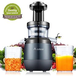 Aobosi Juicer Masticating Slow Juicer Extractor Easy Assembly Cold Press Juicer Machine with Qui ...