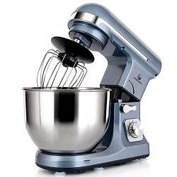 MURENKING Professional Stand Mixer MK37 500W 5-Qt Bowl 6-Speed Tilt-Head Food Electric Mixer Kit ...