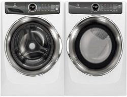 Electrolux White Front Load Laundry Pair with EFLS527UIW 27″ Washer and EFME527UIW 27̸ ...
