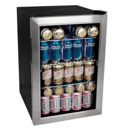 EdgeStar BWC90SS 84 Soda Can Beverage Cooler – Stainless Steel