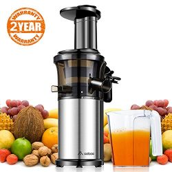 Aobosi Slow Masticating Juicer Extractor Compact Cold Press Juicer Machine with Portable Handle/ ...