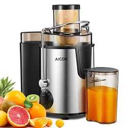 Juicer Aicok Centrifugal Juicer with Wide Mouth, 3 Speed Juice Extractor for Fruit and Vegetable ...