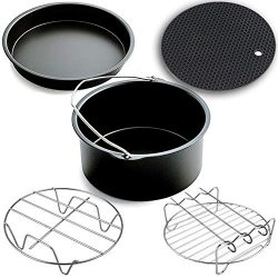Air Fryer Accessories,for Phillips Air Fryer and Gowise Air Fryer Fit all 3.7QT-5.3QT-5.8QT ,Set ...