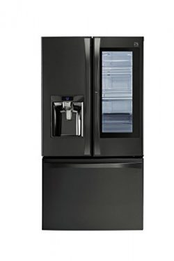 Kenmore 4674077 French Refrigerator with Preview Grab-N-Go Door, 29.6 cu. ft, Black Stainless Steel
