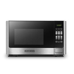 BLACK+DECKER EM925AB9 Digital Microwave Oven with Turntable Push-Button Door,Child Safety Lock,9 ...