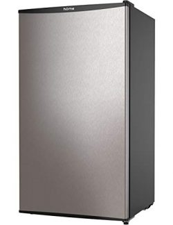 hOmeLabs Mini Fridge – 3.3 cu ft Under Counter Refrigerator with Covered Chiller Compartme ...