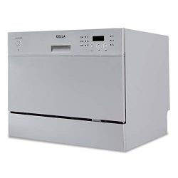 DELLA Compact Mini Dishwasher with 6 Wash Cycles Small Setting Capacity Plate for Office RV Cond ...