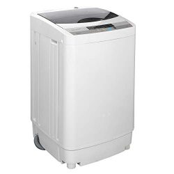 ZENY Compact Full Automatic Washing Machine w/Spin Dryer,2 in 1 Poratble Mini Laundry Washer 1.6 ...