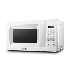 Comfee EM720CPL-PM Countertop Microwave Oven with Sound On/Off, ECO Mode and Easy One-Touch Butt ...