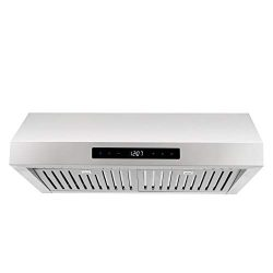 Cosmo UMC30 30-in Under-Cabinet Range Hood 760-CFM | Ducted / Ductless Convertible Duct , Wirele ...