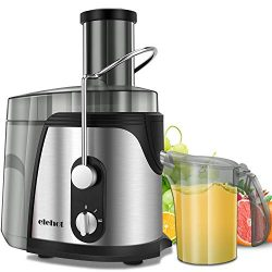 ELEHOT Juicer Machine Juice Extractor 800 Watt Wide Mouth Stainless Steel Dual-Speed Centrifugal ...