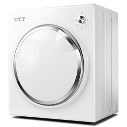 CTT 13 lb. Capacity/3.25 Cu.Ft. Intelligent Compact Protable Tumble Clothes Dryer w/Timer Contro ...